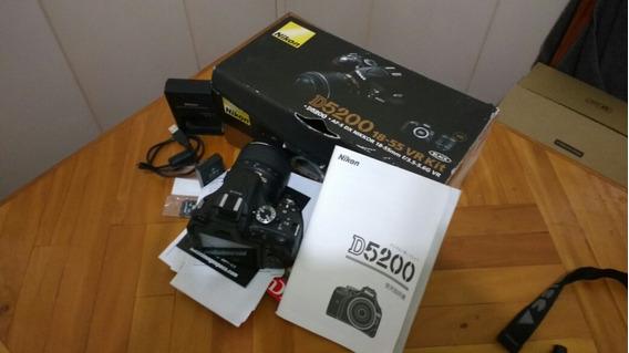 (promoção)super Camera Nikon D5200 Com 3 Baterias De Brinde