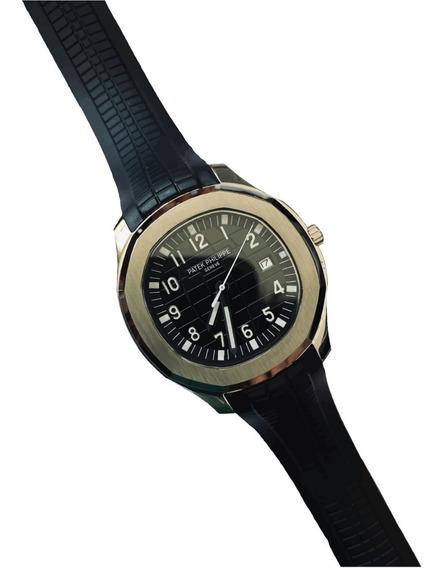 Reloj Patek Philippe Aquanaut Negra Automatico Zafiro Caucho