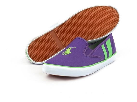 Tenis Polo Ralph Lauren Para Mujer Tipo Slip On Color Morado