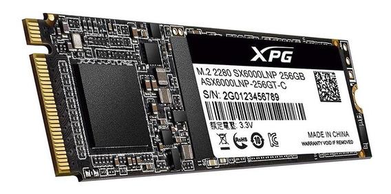 Ssd 256gb M.2 Adata Xpg Asx6000lnp-256gt-c 1800mbs / 900mbs