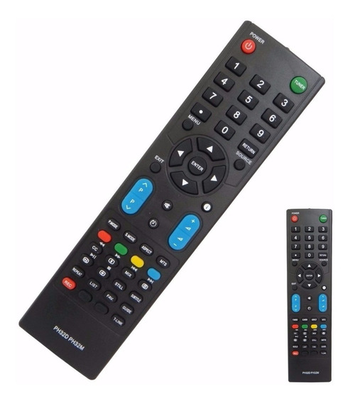 Controle Remoto Tv Philco Lcd/led Ph42d/ph42m/ph32m/ph32d