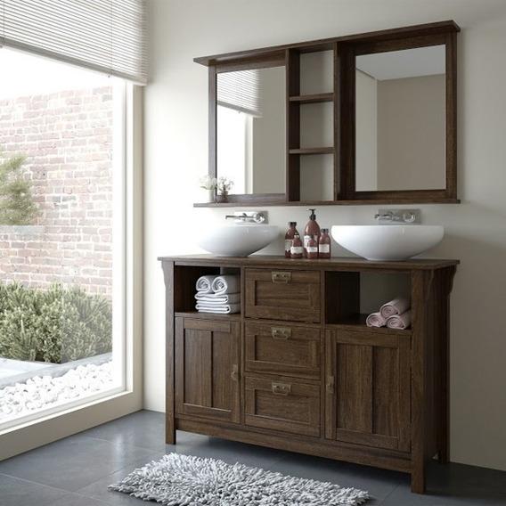Armário Com Espelho Para Banheiro Em Madeira De Demolição