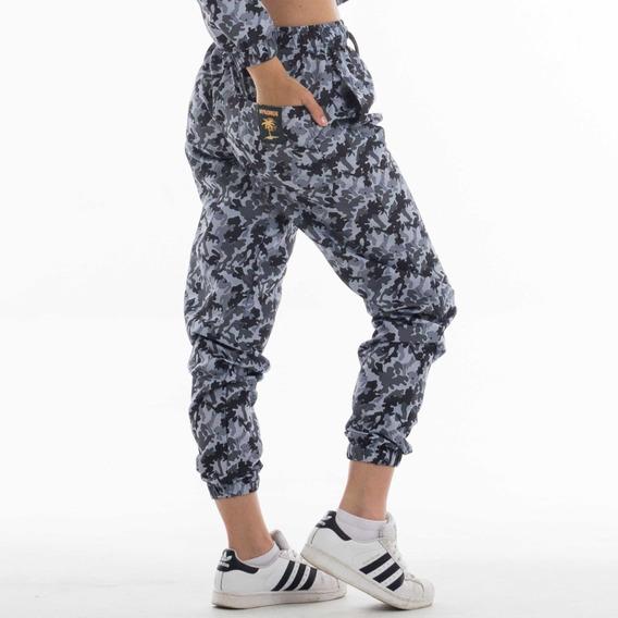 Pantalón Camuflado Gris Mujer - Urban Mykonos