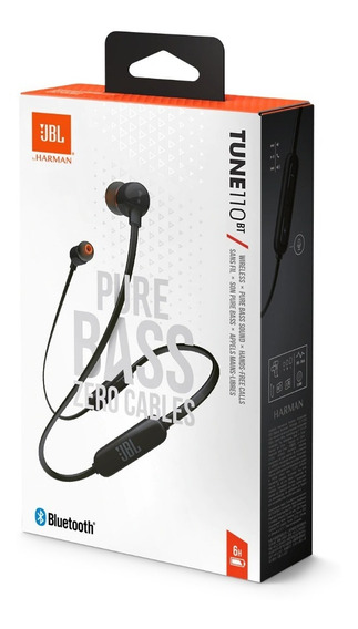 Fone Bluetooth Jbl Tune 110 Bt Garantia 1 Ano Original Preto