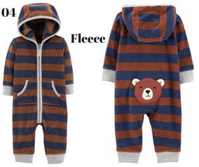 Macacão/pijama Carters Menino 12meses Fleece Original