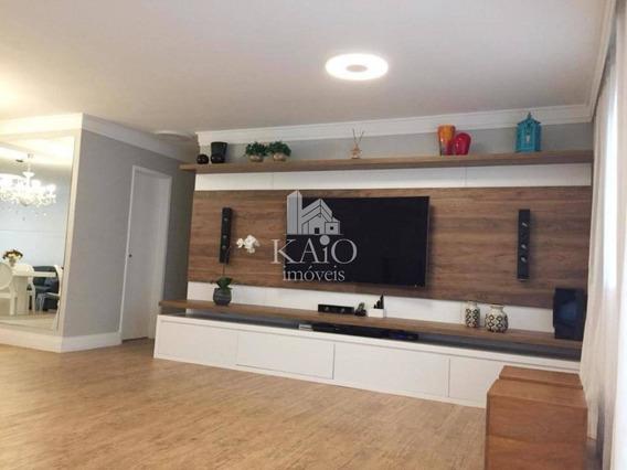 Apartamento 128m², 3 Dormitórios, Varanda Gourmet, 2 Vagas