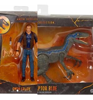 Jurassic World Velociraptor Blue 6 In Scale Amber Collec Set