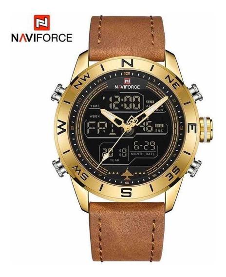 Relógio Naviforce Original Pulseira De Couro