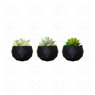 Set De Macetas Geométricas Minimalistas Suculentas Cactus