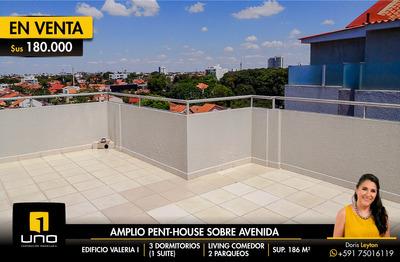 Vendo Amplio Penthouse Zona Norte Con Terrazas