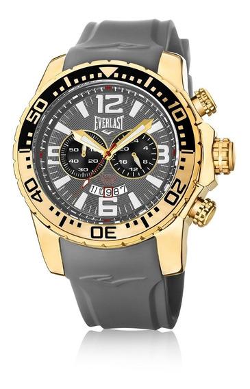 Relógio De Pulso Everlast Pulseira Silicone E650 Masculino