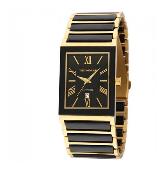 Relógio Feminino Technos 2015cf/4p Dourado Cerâmica Preta