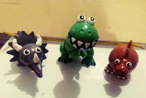 Dinosaurios En Porcelana Fria. Para Centro De Torta/mesa.