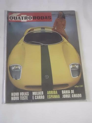 Revista Quatro Rodas Nº 80 - Mar/1967 - Novo Volks - Lacrada