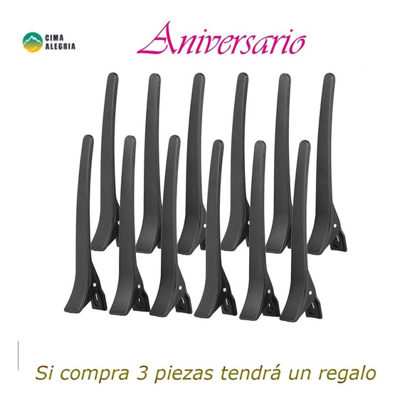 12pcs Pinza De Cocodrilo Salon Sectioning Pinza De Agarre Co