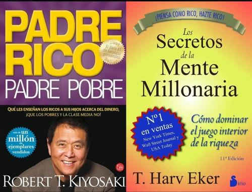2x1 Secretos De La Mente Millonaria + Padre Rico Padre Pobre