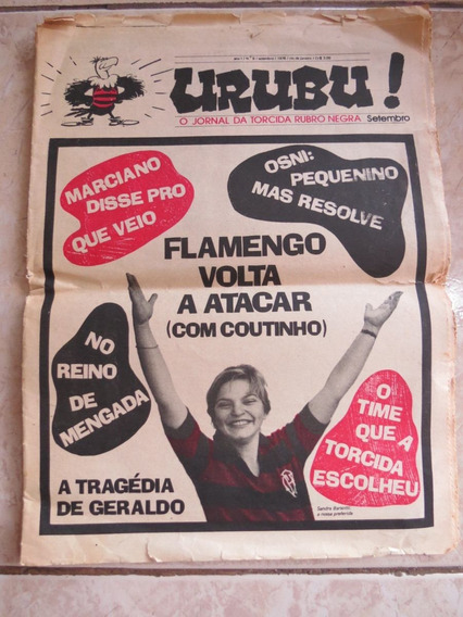 Jornal Urubu Nº 9 Setembro 1976 Flamengo Geraldo