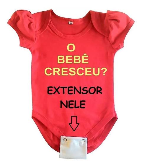 Extensores De Body Bebê - 7 Peças - 2 Ou 3 Botões 18 Cores