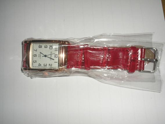 Novo Relógios Femininos Rosa Ouro Pulseira De Couro