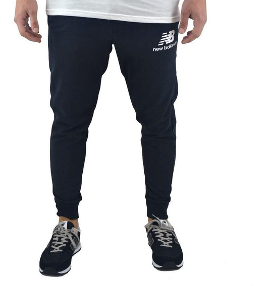 Pantalon New Balance Hombre Essentials Brush Negro