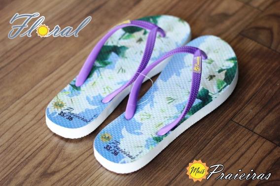 Chinelo/sandália Mais Praieiras Floral White 39/40 Feminino