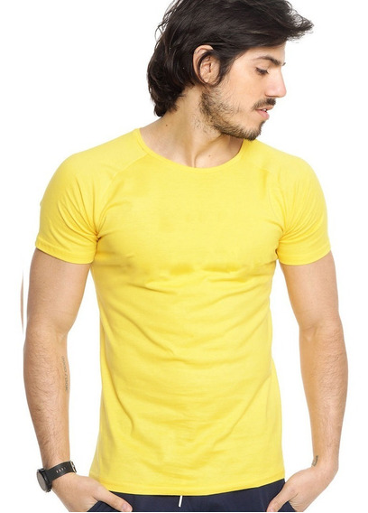 Remera Lisa 100% Algodon Slim Fit Varios Colores