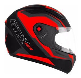 Capacete Mixs Masculino Fosco Vermelho Gtx Moto Motociclista