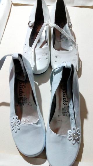 Zapatillas Blancas - Primera Comunion Talla 23 Y 23.5