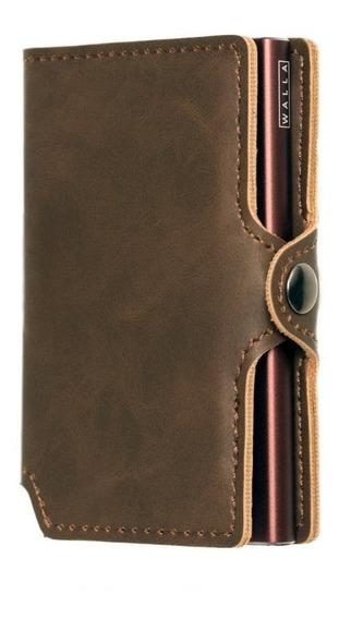 Billetera Walla Wallets - Vintage Pardo