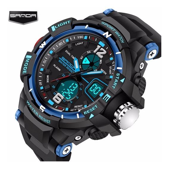 Relógio Masculino Barato Digital -shock Esportivo Racer Luz