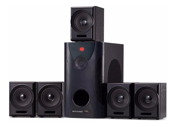 Caixa De Som Home Theater Multilaser 5.1 80w Rms Mp3