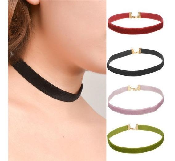 10 Choker Collar Gargantilla Diferentes Colores Mayoreo