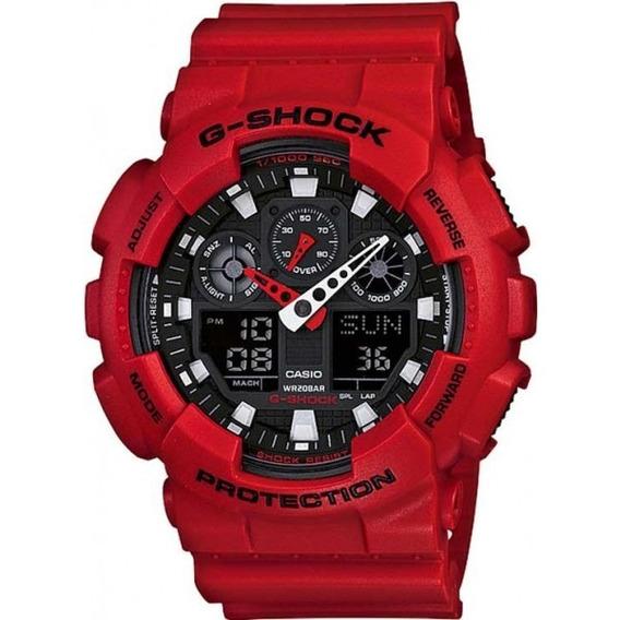 Relogio Masculino G-shock Ga-100b-4adr - Frete Gratis