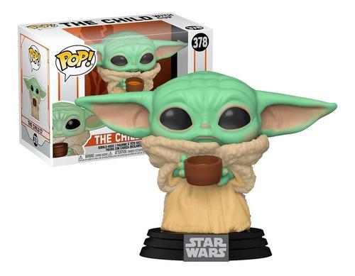 Imagem 1 de 5 de Boneco Funko Pop Star Wars Baby Yoda C/ Copo 378 - Original