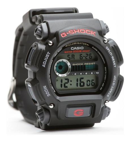 Relógio Casio G-shock Dw-9052 Preto Azul Original C/ Caixa