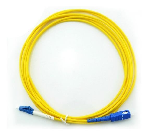 10 X Patch Cord Fibra Óptica Sc-upc / Lc-upc Sm Simplex 3m