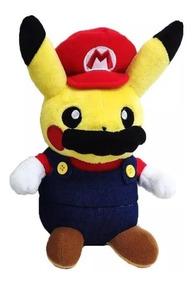 Pikachu Cosplay Mario Bros Pokemon Pelucia Mario Pikachu