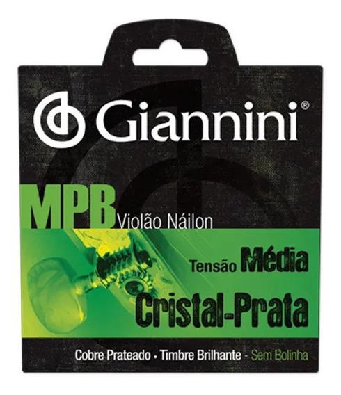 Encordoamento Violão Nylon Mpb Médio Giannini Genws