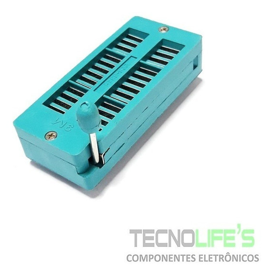 Adaptador Soquete Textool Zif 28 Pinos Microcontrolador