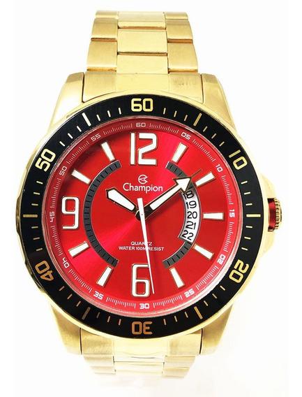Relógio Masculino Esportivo Vermelho Champion Ca30945r Nf