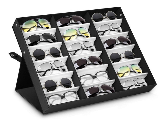 Estuche Lentes Organizador 18 Gafas Corbatas Relojes Msi