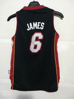 Jersey adidas Lebron James Miami HeatBordado Junior Nba