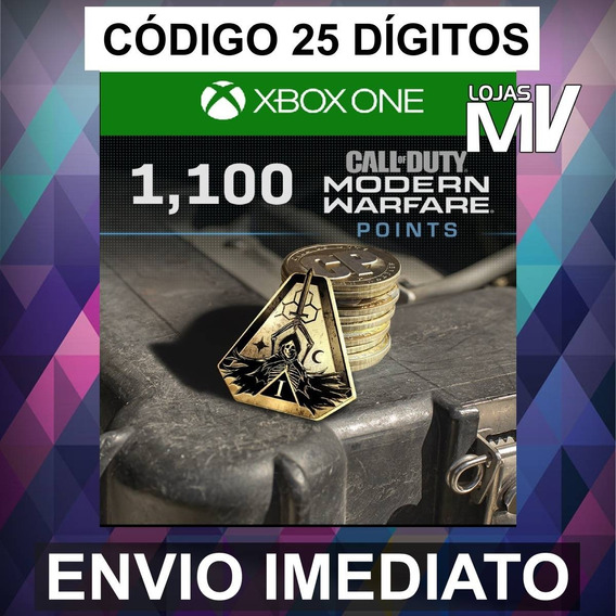 1100 Coins Call Of Duty Modern Warfare 25 Dígitos Xbox One