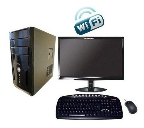 Pc Cpu Completo Core 2 Duo 4gb Ram Hd 500gb Wifi Monitor 15