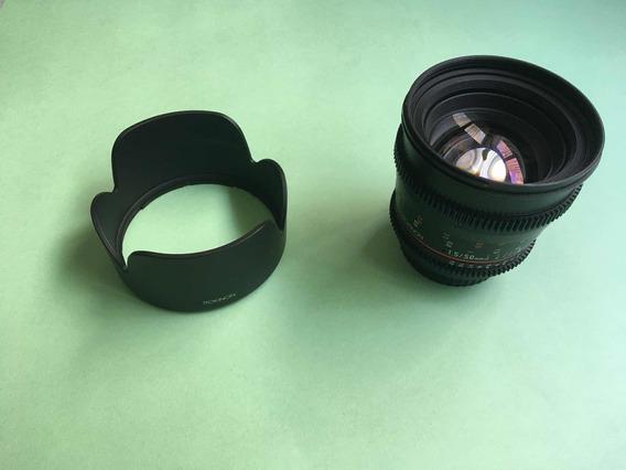 Lente Rokinon Cine Ds 50mm T1.5 - (canon)