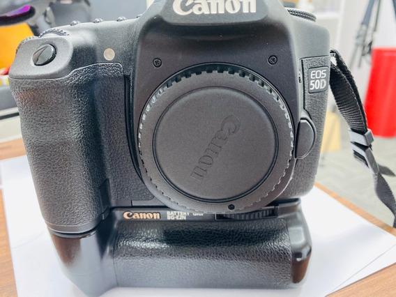 Camera Canon 50d Corpo Seminova C/ Grip Menos Que 200 Clicks