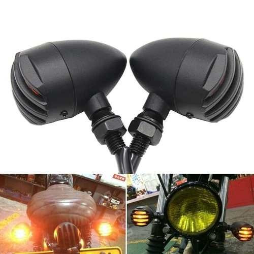 Pisca Bullet Motos Custom / Harley Davidson Lampada 2 Polos
