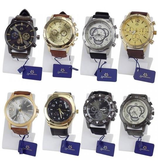 Kit 10 Relógios Masculinos Originais Orizom +pilhas Reservas