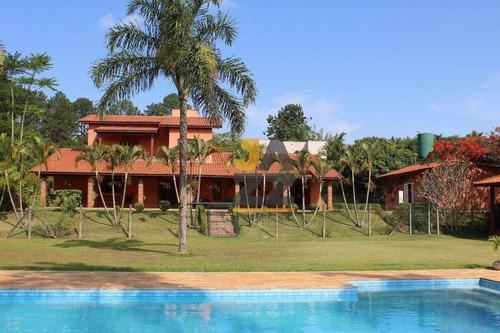 Aconchegante Chácara Com 4 Dormitórios À Venda, 5230 M² Por R$ 2.100.000 - Recanto Dos Pássaros - Indaiatuba/sp - Ch0722