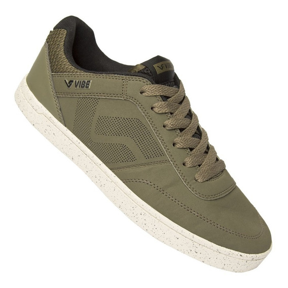 Tenis Vibe Square Ii Musgo Bege